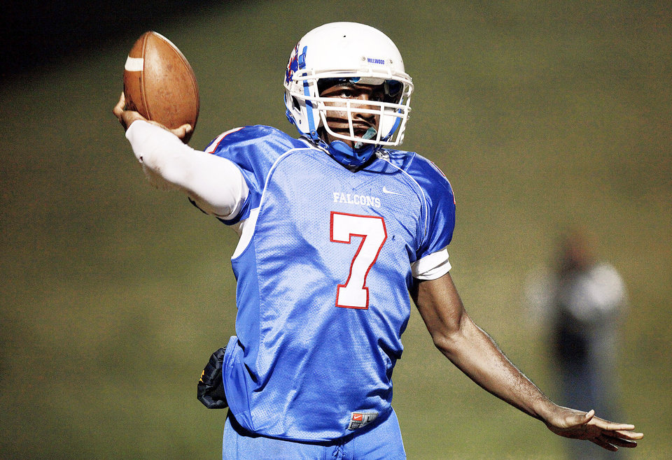 Kevonte  Richardson Millwood QB Photo by Sarah Phipps, The Oklahoman