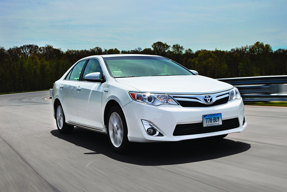 For a great all-around sedan with excellent fuel economy, Consumer Reports found the 38 mpg Toyota Camry Hybrid hard to beat.(Consumer Reports)