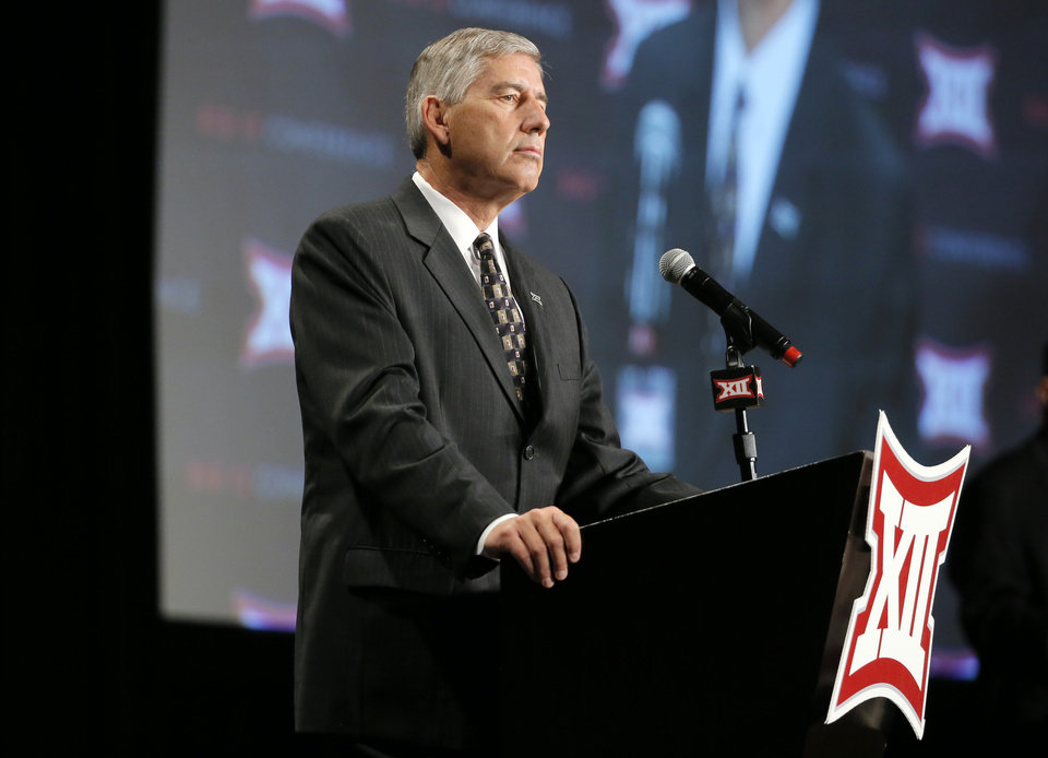 Photo -  Big 12 commissioner Bob Bowlsby is working to expand the conference. [AP photo]