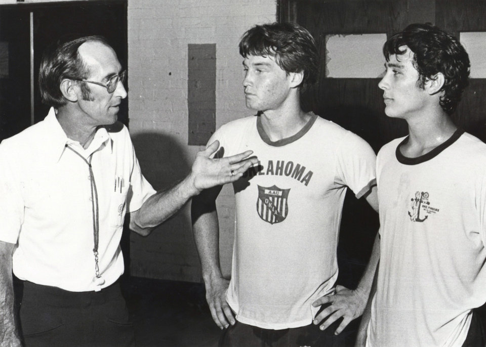 Photo - Enid's Mark Price, left, and Edmond's Jay Davis competed in the 1982 state tournament.  Photo from The Oklahoman Archive