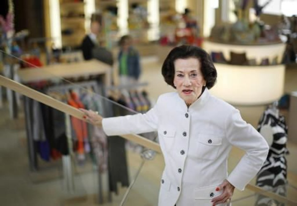 Lolly Sweeney recently celebrated her 67th year with Balliets. She has seen it all. Fashions have come and gone and come again and gone again. See Oklahoman article http://tinyurl.com/bogquhr   (Photo by Jim Beckel).