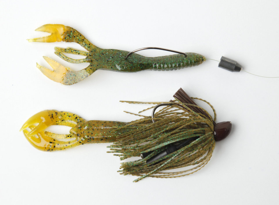 Gene Larew Salt Craw as jig trailor and Texas rigged. Photo by Doug Hoke, The Oklahoman
