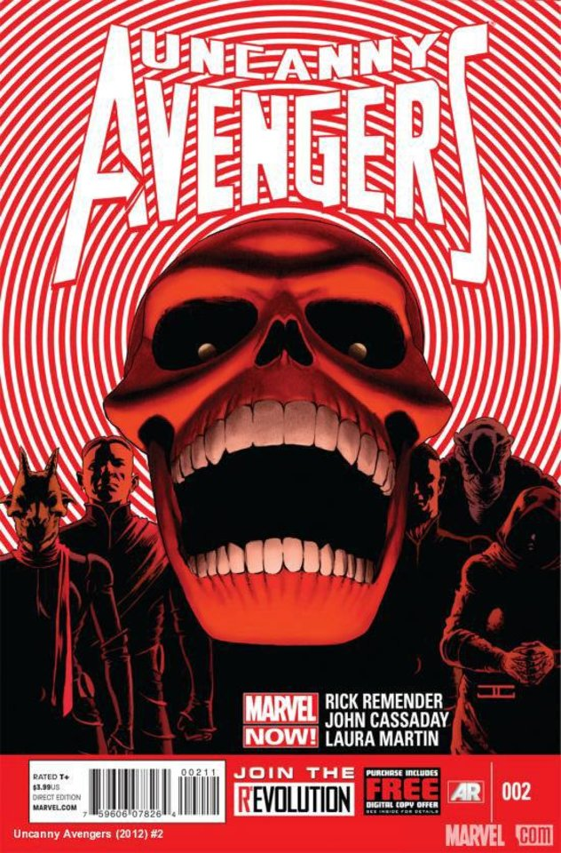 "John Cassaday's cover to ""Uncanny Avengers"" No. 2. Marvel Comics. <strong></strong>"