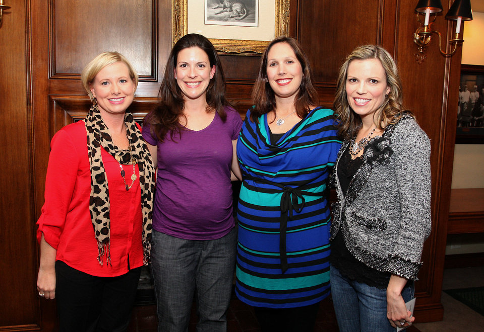 Jennifer Blackwood, Becky Luke, Sarah Morgan, Kristin Fares.  PHOTO BY DAVID FAYTINGER, FOR THE OKLAHOMAN