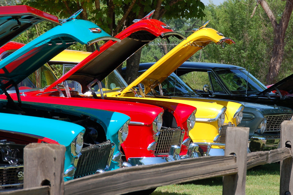 three 1955 chevy's at the OHRA car show in Guthrie<br/><b>Community Photo By:</b> Penny Hurley<br/><b>Submitted By:</b> Penny, Guthrie