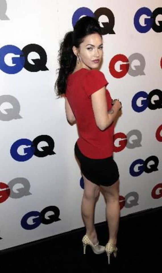 """Photo -  Actress Megan Fox arrives for GQ magazine's 12th annual """"Men of the Year"""" party in West Hollywood, Calif., Wednesday, Dec. 5, 2007. (AP Photo/Chris Pizzello)"""