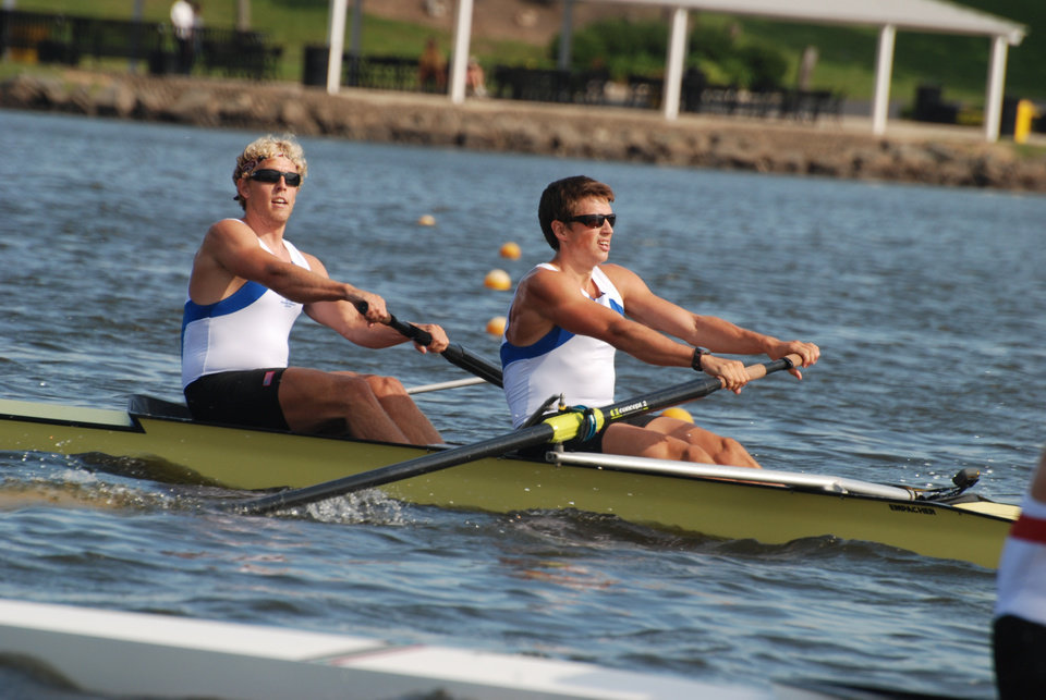 Tom Peszek, left, and Silas Stafford have earned spots on Team USA. PHOTO PROVIDED BY US ROWING