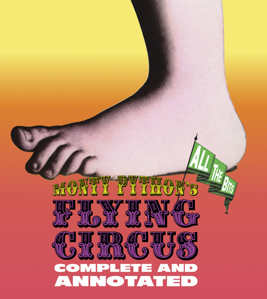"This book cover image released by Black Dog & Leventhal Publishers shows ""All the Bits: Monty Python's Flying Circus,"" by Luke Dempsey. A colorful doorstop of a book offering complete scripts for every one of the show's 45 episodes, with marginalia and fun graphic details. (AP Photo/Black Dog & Leventhal Publishers)"
