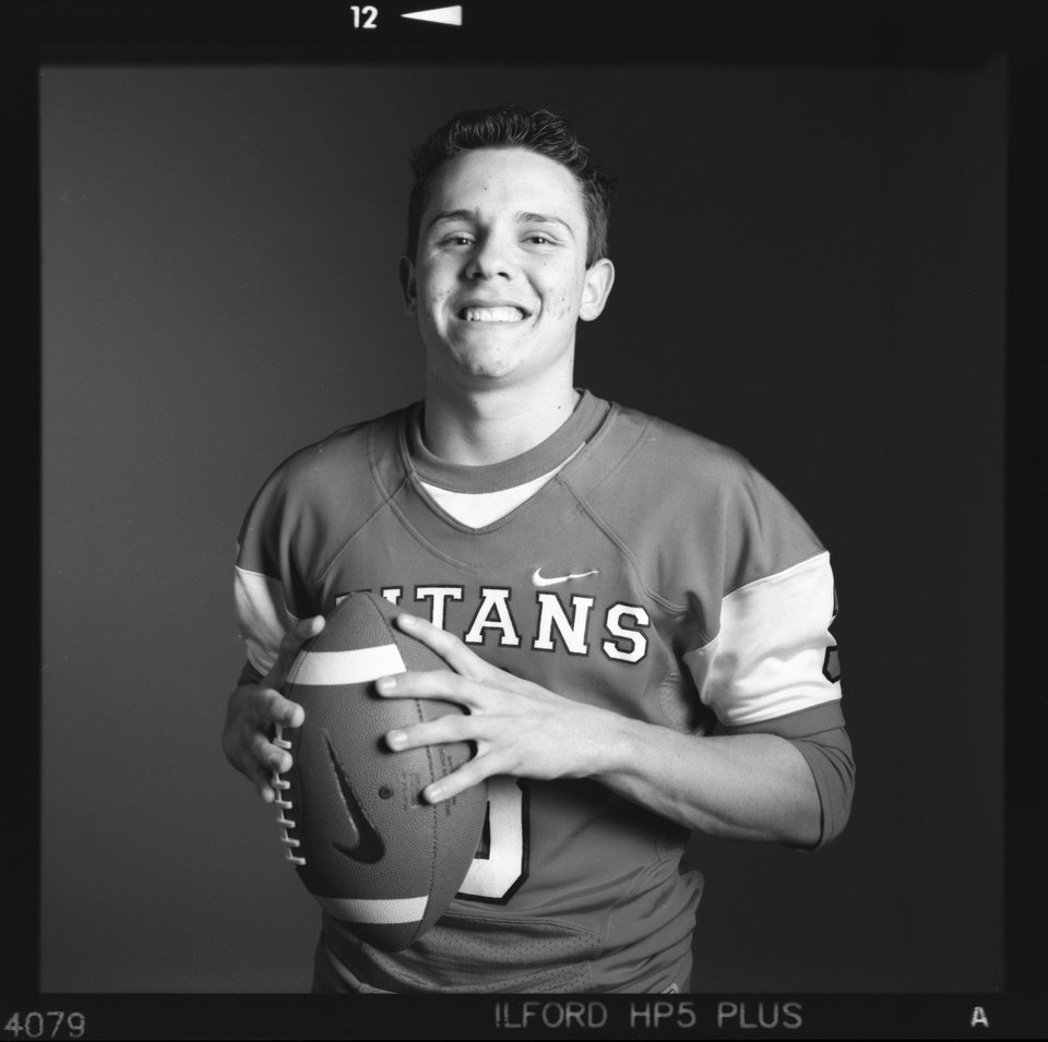 Photo - All-State high school football player Stevie Thompson of Carl Albert poses for a photo in Oklahoma City, Monday, Dec. 17, 2012. Photo by Nate Billings, The Oklahoman