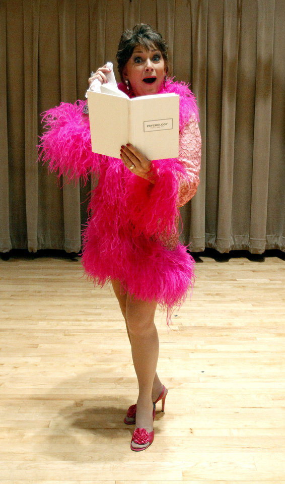 2011 Senior Follies cast member Kerry Robertson rehearses for the Follies at Wanda L. Bass Music Center on the campus of Oklahoma City University in Oklahoma City. File photo by Sarah Phipps, The Oklahoman. <strong>SARAH PHIPPS - SARAH PHIPPS</strong>