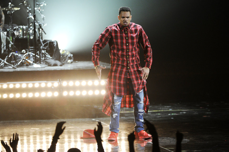 Photo - Chris Brown performs at the BET Awards at the Nokia Theatre on Sunday, June 29, 2014, in Los Angeles. (Photo by Chris Pizzello/Invision/AP)