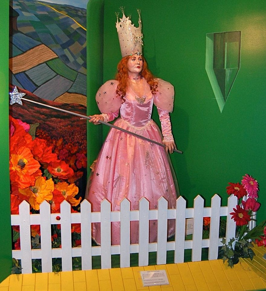 Photo - A life-size figure of Glinda the Good Witch from the Oz Museum in Wamego, Kansas. Photo by Annette Price, for The Oklahoman.