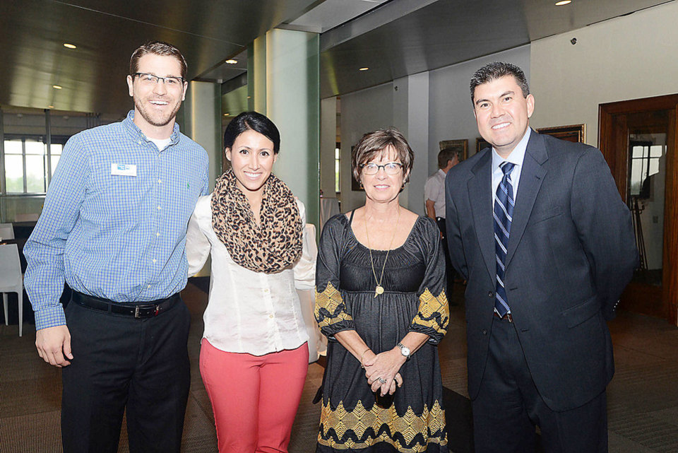 Mike Slack, Sheena Karami, Susan Stussi, Nick Samarripas. Photo by David Faytinger, for The Oklahoman