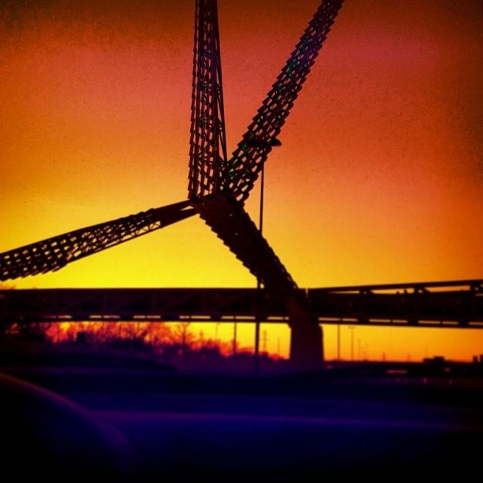 Oklahoma City SkyDance Bridge Photo via Instagrammer @_rrs