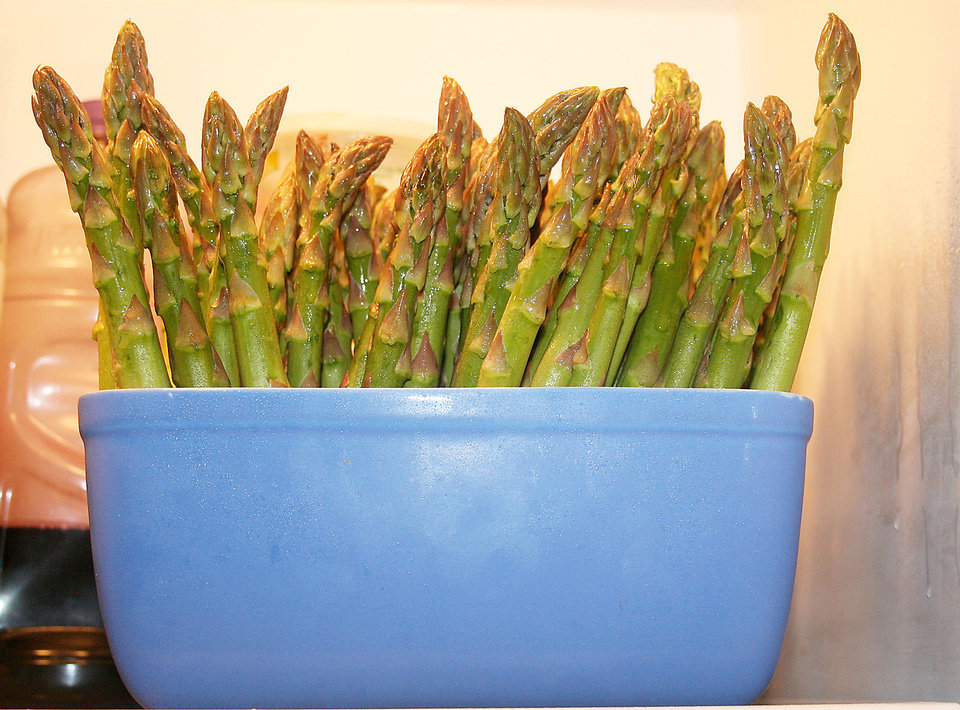 Asparagus is in the prime of its growth season. <strong>SHERREL JONES - THE OKLAHOMAN</strong>