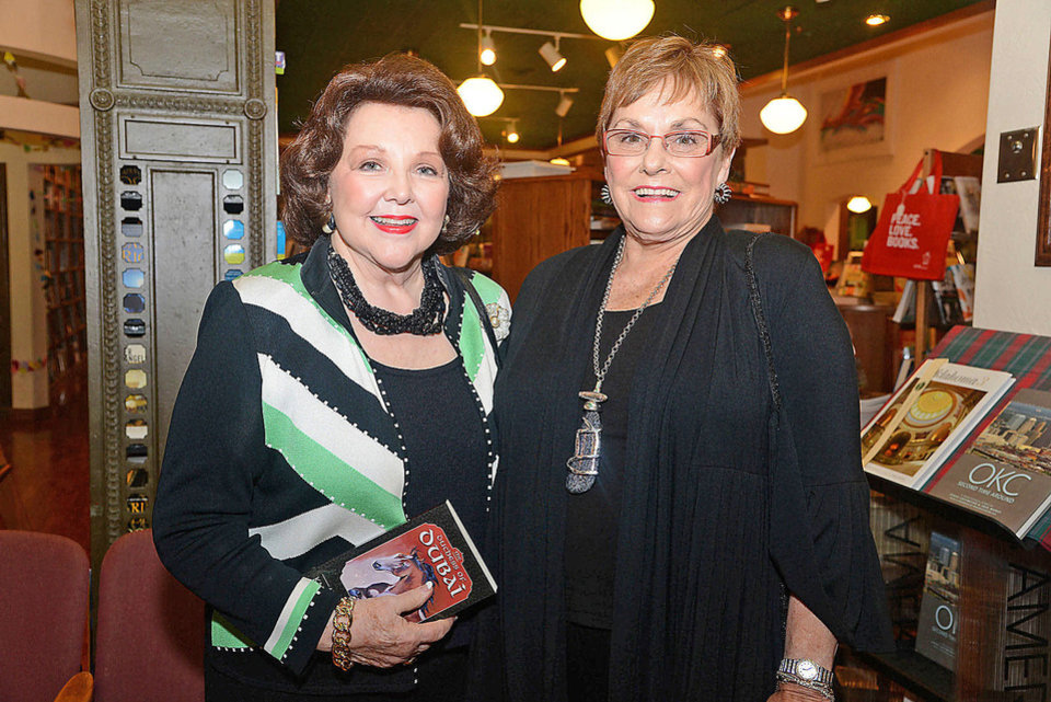 Betty Crow, Pat Edwards. Photo by David Faytinger, for The Oklahoman