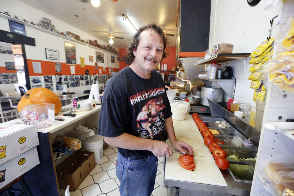 Steven Horton owns 15th Street Grill  in Midwest City. He estimates that 25 percent of his business is affected by the government shutdown. Photo By Steve Gooch, The Oklahoman <strong>Steve Gooch</strong>