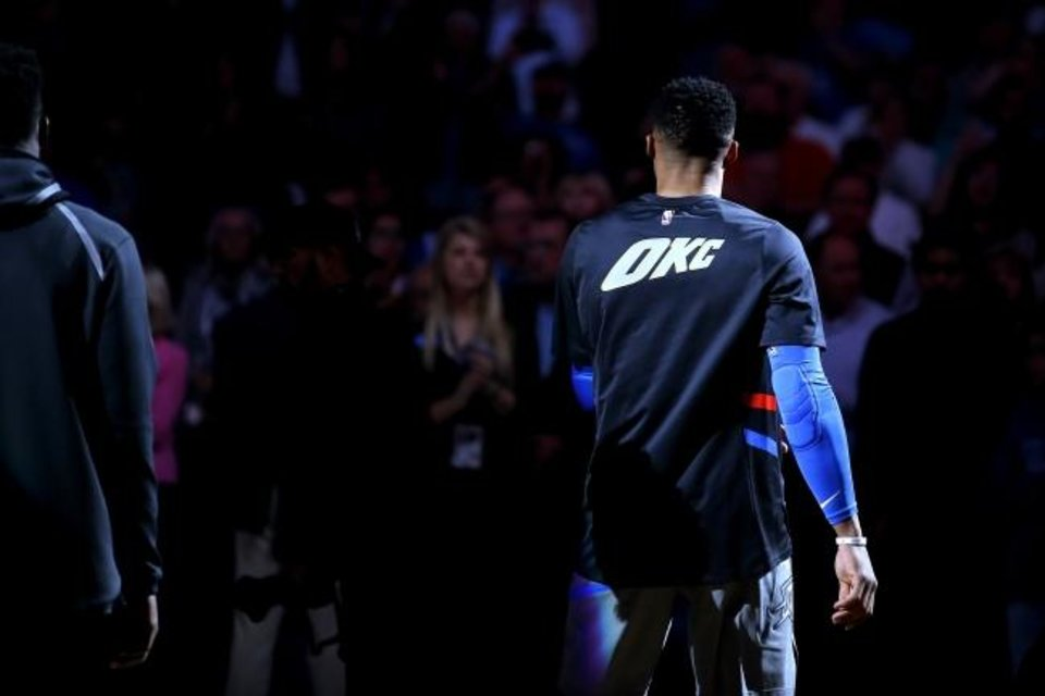 Photo -  It's a new era in Oklahoma City basketball. With Russell Westbrook's departure to the Houston Rockets, all things Thunder basketball will have a new feel that will likely take some time getting used to. [Bryan Terry/The Oklahoman]