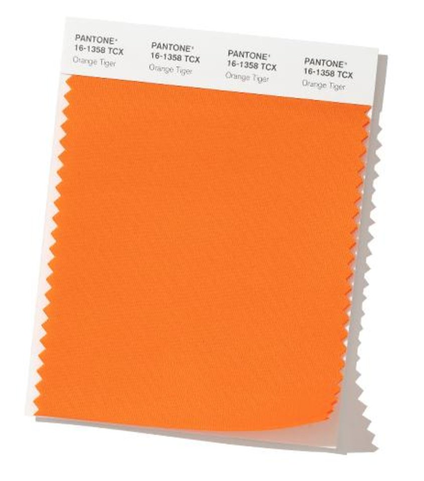 Photo - Orange Tiger, one of Pantone Color Institute's top color picks for fall fashion 2019.