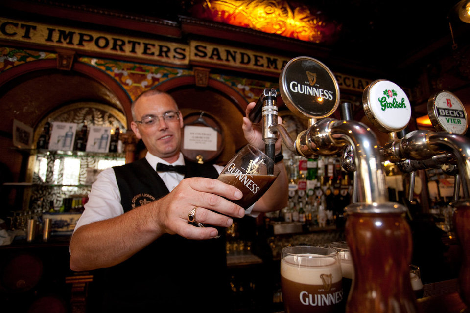Never rush your bartender when he's pouring a Guinness. It takes time. Photo by Dominic Bonuccelli