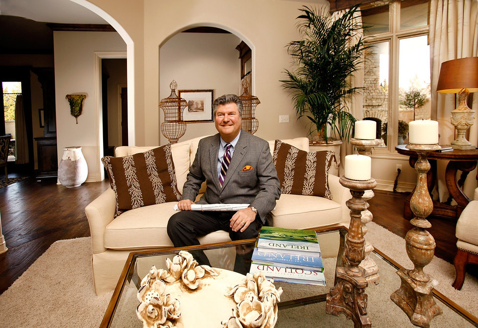 Photo - Mark Dale, owner of Oklahoma City's Carriage Homes, is the 2010 president of the Central Oklahoma Home Builders Association . He is photographed in a new home in The Abbey section of Fairview Farms housing addition, Tuesday , Dec. 12, 2009.    Photo by Jim Beckel, The Oklahoman ORG XMIT: KOD