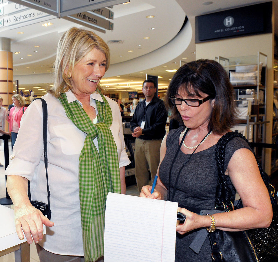 Martha Stewart, left, and Marni Jameson. PHOTO PROVIDED. <strong></strong>