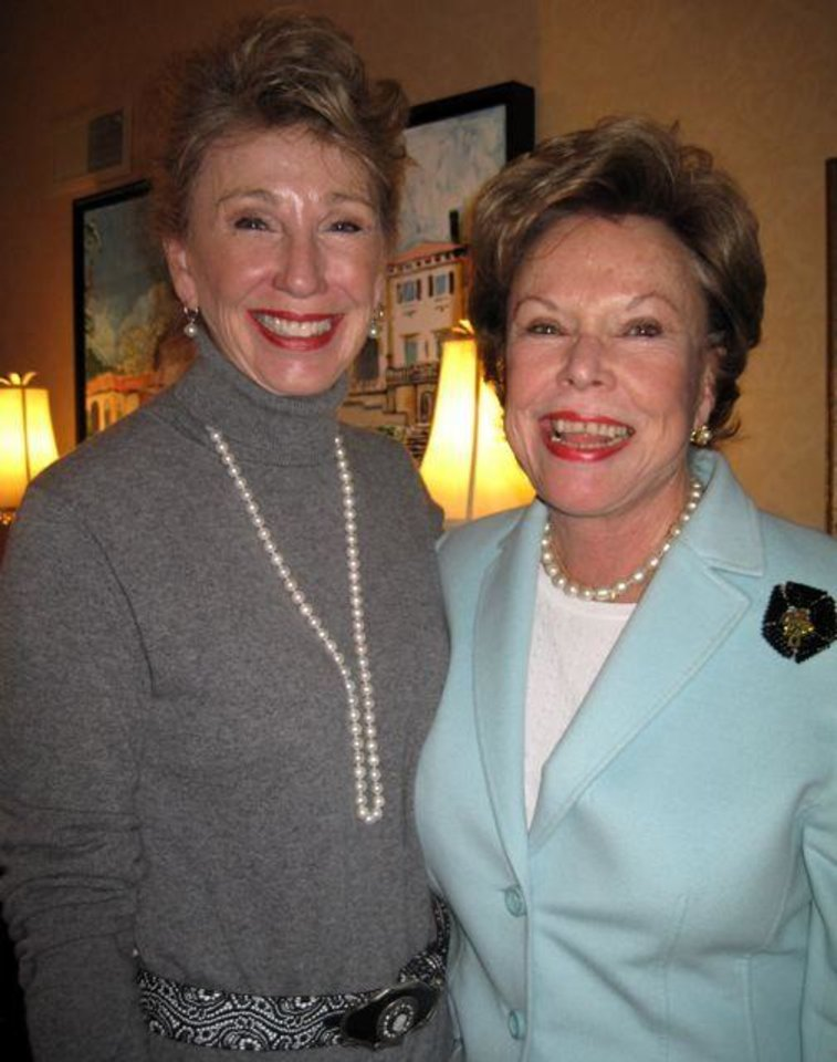 SUGAR AND SPICE...Ann Felton Gilliland and Barbara Fruit Watson. (Photo by Helen Ford Wallace).