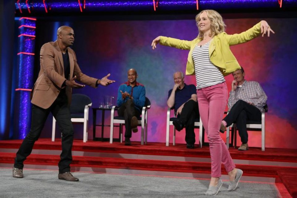 """Candice Accola is shown during her appearance on """"Whose Line Is It Anyway?"""" - Photo by Patrick Wymore /The CW -- © 2013 The CW Network, LLC. All Rights Reserved"""