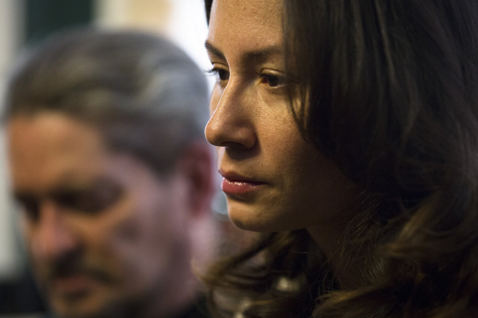 Photo - Magdalena Rodriguez, close friend of 33-year-old Sarai Sierra who was found dead on Saturday in Turkey, attends a news conference at a friend's home in Staten Island, Monday, Feb. 4, 2013, in New York. Rodriguez had planned to travel with Sierra who went missing while vacationing alone in Istanbul on Jan. 21, the day she was due to board her flight back home.   (AP Photo/John Minchillo)