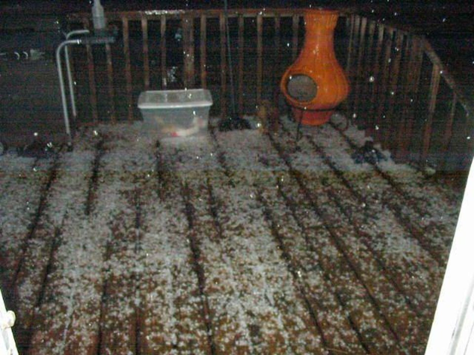 this was after the hail storm that hit guthrie on october 21st<br/><b>Community Photo By:</b> terry maguire<br/><b>Submitted By:</b> terry, guthrie
