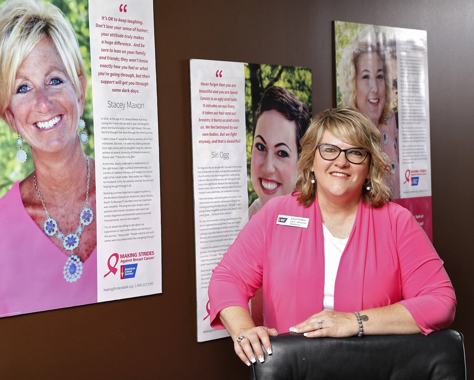 Photo -   Oklahoma American Cancer Society Executive Director Lesa Foster