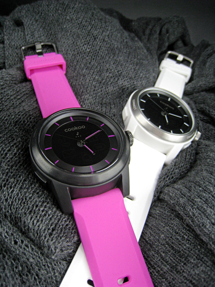 Photo - The COOKOO watch is a smart watch that interacts with your mobile device. PHOTO PROVIDED.
