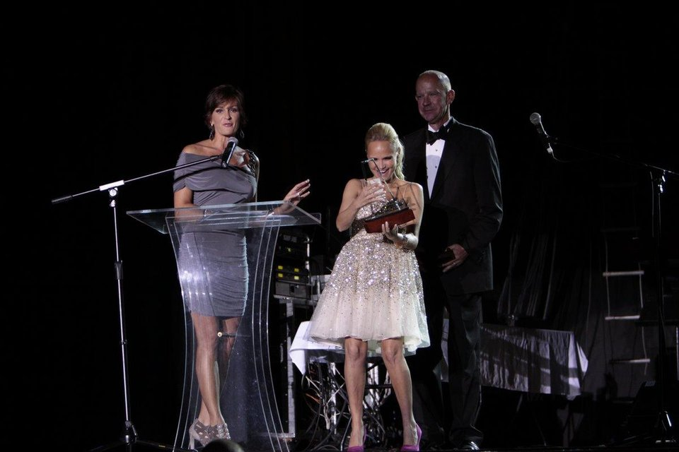 Kristin Chenoweth receives recognition as she is inducted into the Oklahoma Music Hall of Fame. Photo by Jay Spear