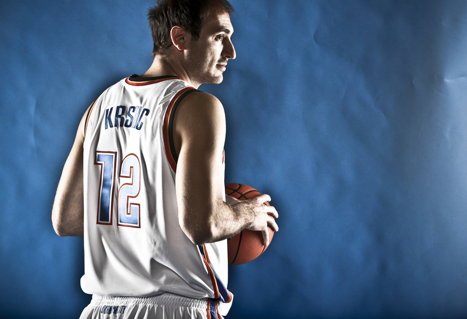 Photo - DO NOT USE. FOR THUNDER PREVIEW ONLY. 			NBA BASKETBALL: NENAD KRSTIC during the Oklahoma City Thunder media day on Monday, Sept. 28, 2009, in Oklahoma City, Okla.  Photo by Chris Landsberger, The Oklahoman. ORG XMIT: KOD