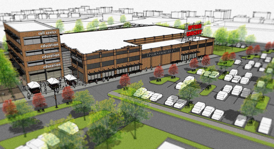 King's Crossing, NE 23 and Martin Luther King Ave., will be anchored by an Uptown Market, with other tenants to include a medical complex and an education component.  <strong> Studio Architecture </strong>