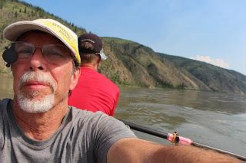 Steven Price, associate vice president for technology development at Oklahoma State University, rows on the Yukon River in Canada. Photo by Steven Price