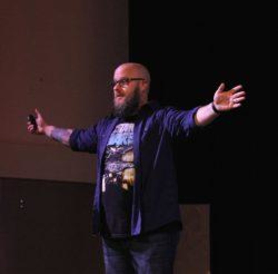 Photo - Greg Gifford speaking at Confluence last year. Photo provided by Confluence.