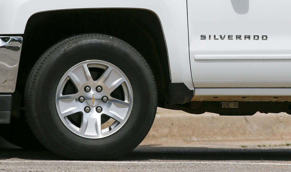 Photo -  A Chevrolet Silverado truck in Oklahoma City. [Photo by Nate Billings, The Oklahoman]
