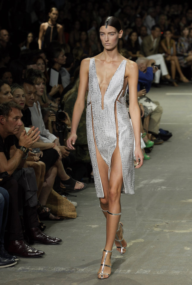 Photo -   The Alexander Wang Spring 2013 collection is modeled during Fashion Week in New York, Saturday, Sept. 8, 2012. (AP Photo/Richard Drew)