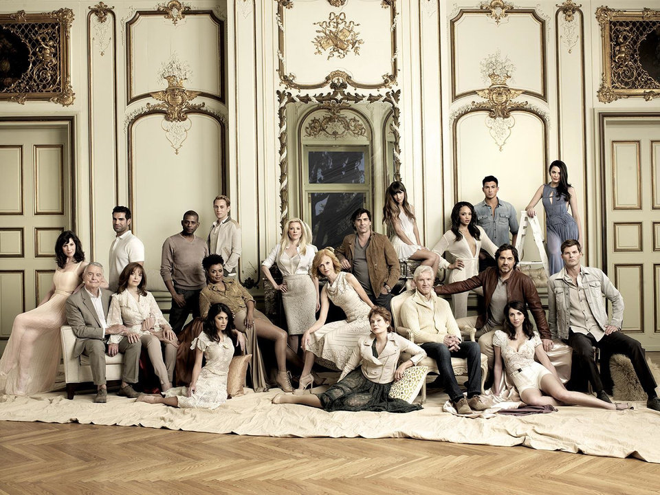 Photo -  All My Children Cast: Top row (L-R) - Heather Roop, Jordi Vilasuso, Darnell Williams, Eric Nelson, Cady McClain, Vincent Irizarry, Denyse Tontz, Sal Stowers, Robert Scott Wilson, Jordan Lane Price Middle row (L-R) - Ray MacDonnell, Francesca James, Debbi Morgan, Jill Larson, David Canary, Ryan Bittle Bottom row (L-R) - Lindsay Hartley, Julia Barr, Eden Riegel - Photo Credit: Chapman Baehler; Styling by George Kotsiopoulos