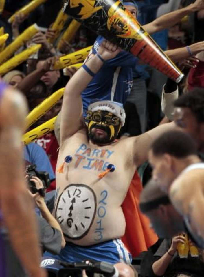 Thunder super fan Garrett Haviland Photo by Steve Sisney, The Oklahoman