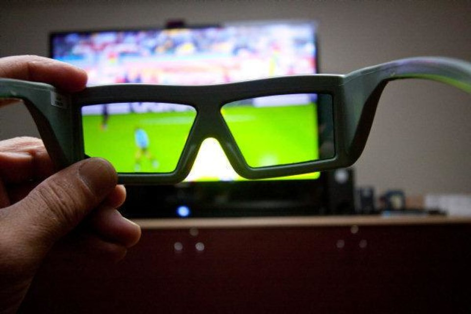 Photo - Specially designed glasses are required to watch 3D programming.  John Atashian - ESPN 3D