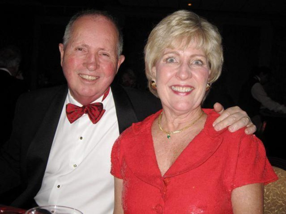 LOTUS CLUB DANCE....Mike and Susan McPherson were at the party.  (Photo by Helen Ford Wallace).