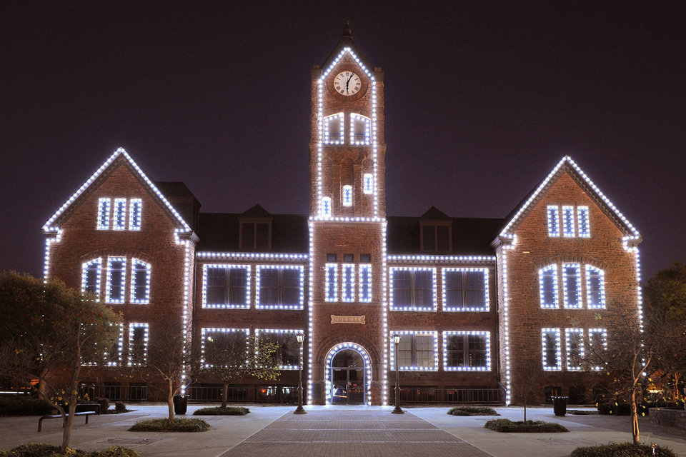 Photo - A photo of Old North, the oldest building on the University of Central Oklahoma campus. The building will be the first building lighted during the Dec. 6 WinterGlow. PHOTO PROVIDED.  UCO photo by Daniel Smith. - PHOTO PROVIDED