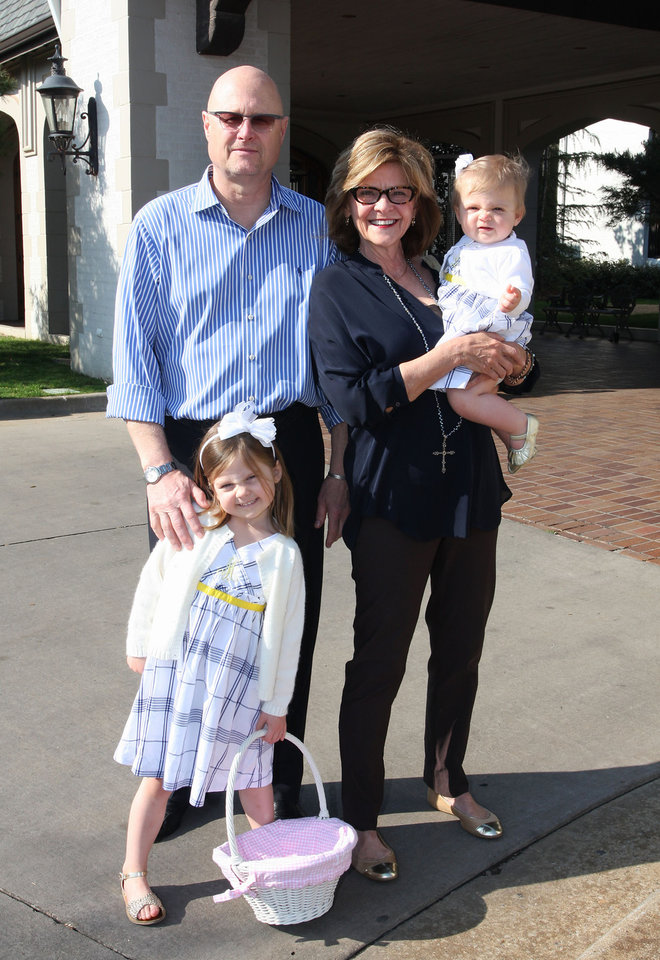 Photo - Mia (4), Carson, Marsha, and Lula (10mos) See. Photo by David Faytinger for The Oklahoman__