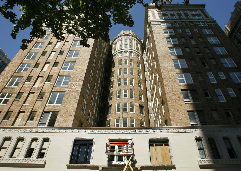 The Skirvin Hilton Hotel in downtown Oklahoma City, vacant for 20 years, was renovated partly with federal funding to reclaim brownfields sites. Photo by JIM BECKEL, THE OKLAHOMAN ARCHIVES