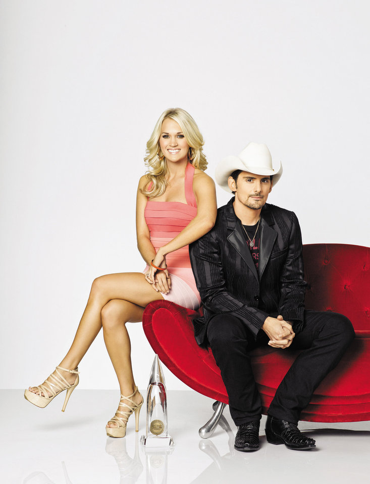 Brad Paisley and Checotah native Carrie Underwood will co-host the 46th Annual CMA Awards airing Nov. 1 on ABC. Photo by Bob D'Amico, ABC. <strong>Bob D'Amico / ABC</strong>