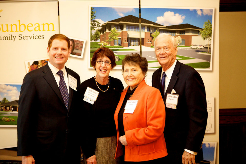 Photo - Co-chairmen Bob Ross, Sandy Trudgeon and honorary co-chairmen Pat and Ray Potts. PHOTO PROVIDED