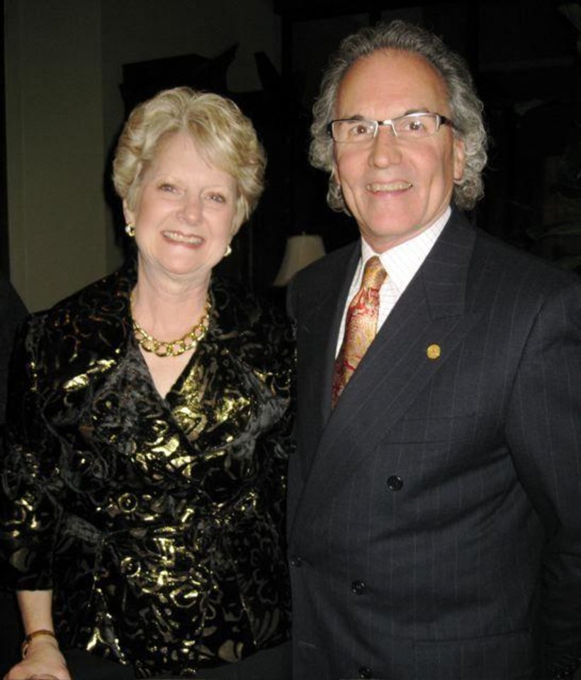 FLAMING FESTIVAL....Ranelle and Steve Brown. She was Flaming Festival co-chairman. (Photo by Helen Ford Wallace)