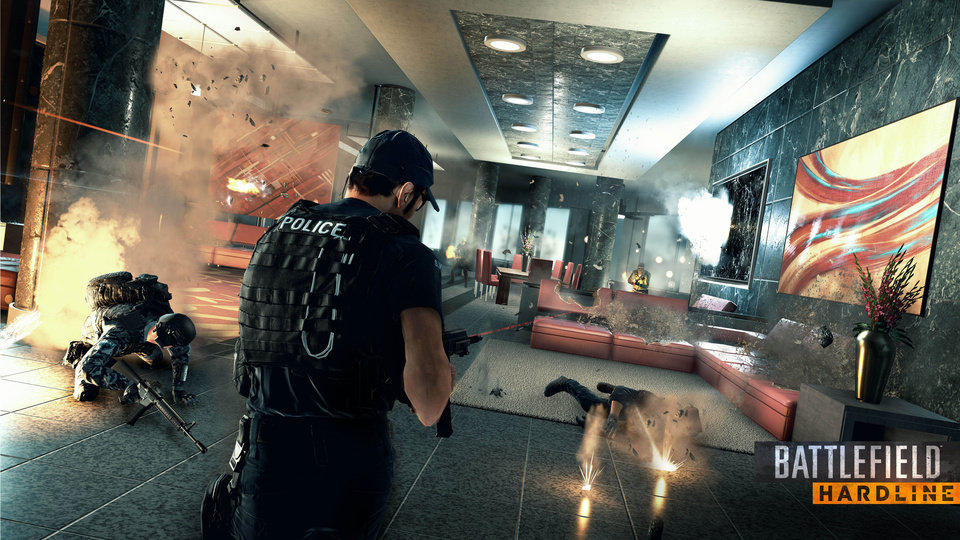 "Photo - This photo released by Electronic Arts shows a scene from the video game, ""Battlefield: Hardline."